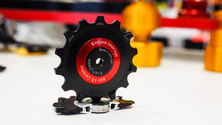 12速モデル対応、エンデューロのディレーラー用プーリー