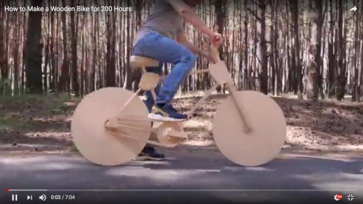 木製自転車の製作を見てみよう